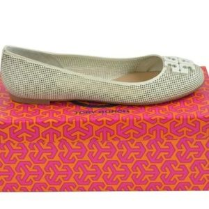 Tory Burch Ivory Lowell 2 Perforated Flats